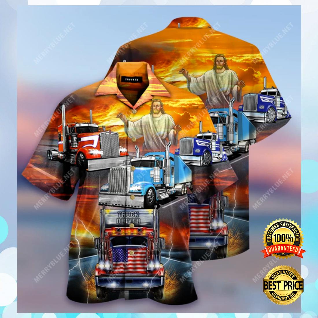 Jesus blesses truckers hawaiian shirt 4