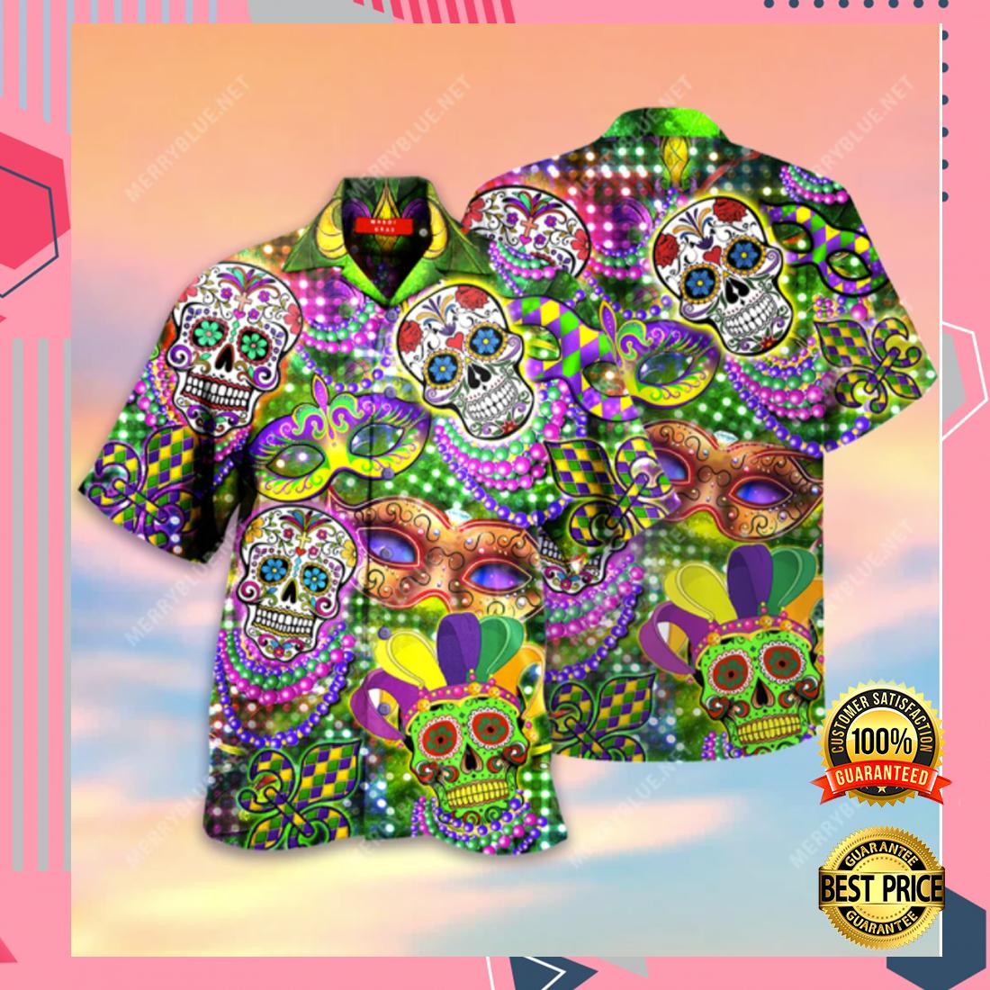 Mardi Gras Skulls hawaiian shirt 5