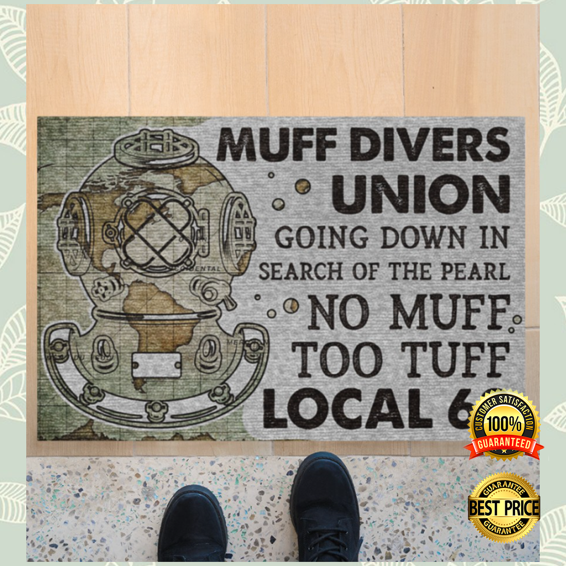 Muff divers union going down in search of the pearl doormat 4