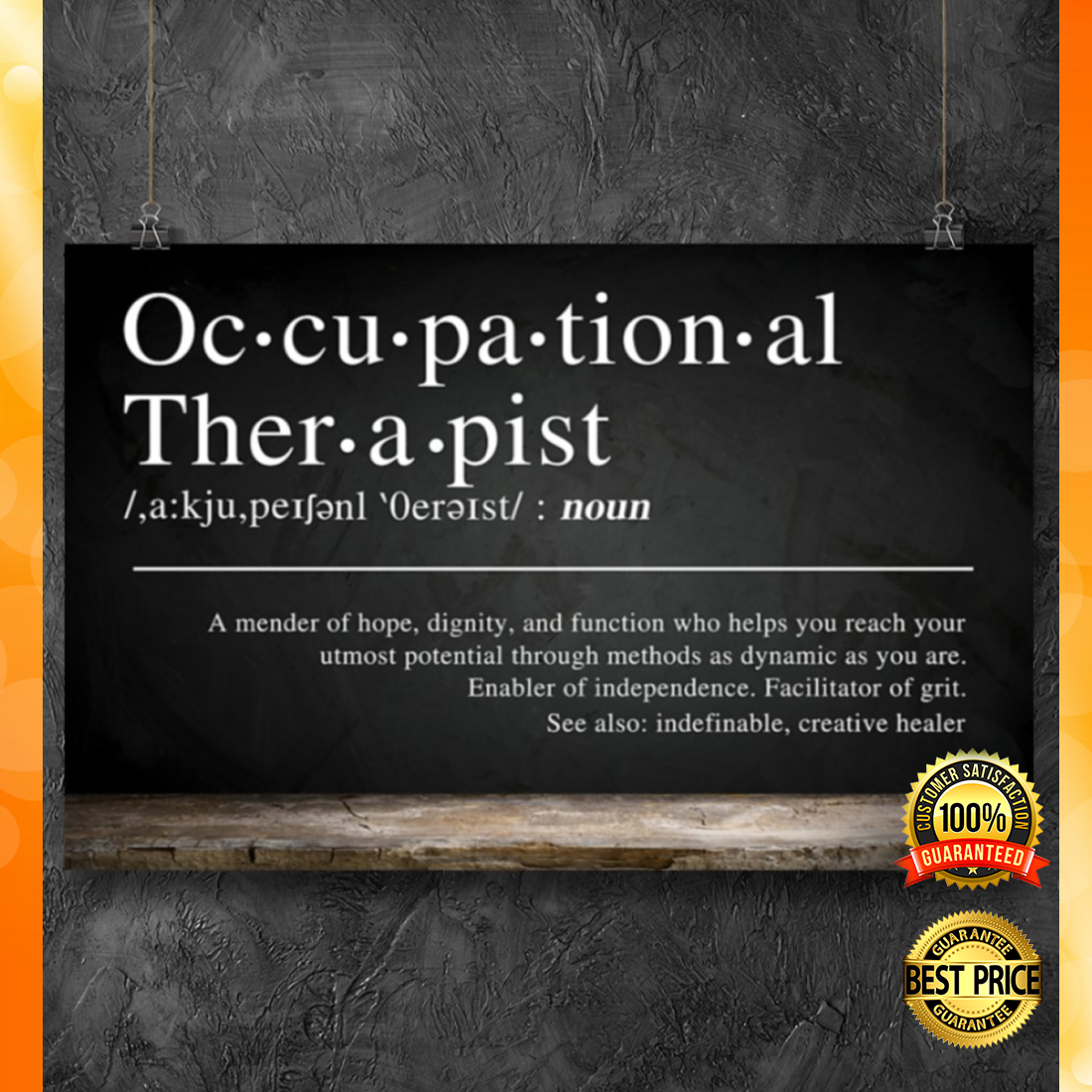 Occupational therapist definition poster 5