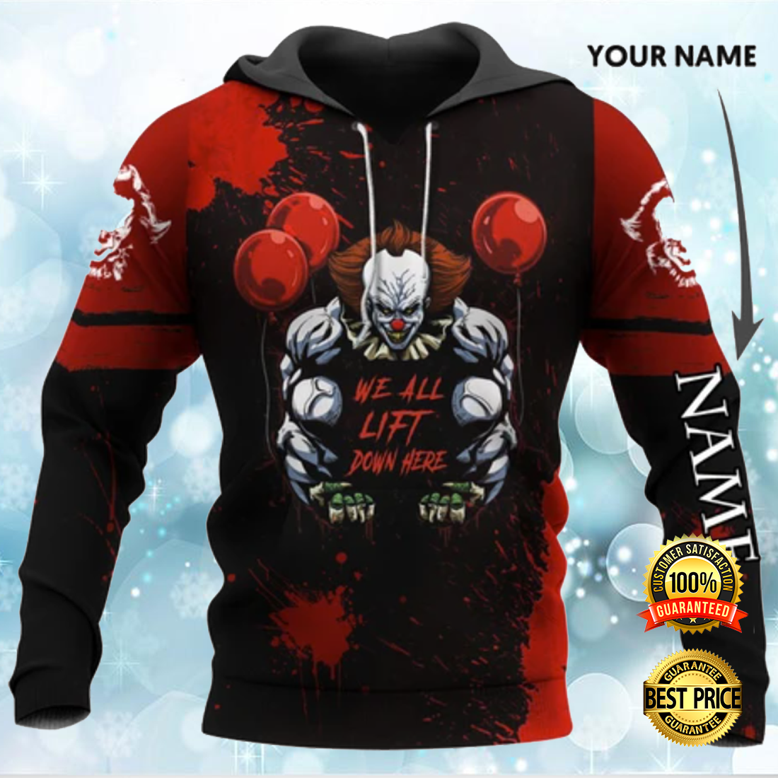 Pennywise we all lift down here all over printed 3D hoodie 4
