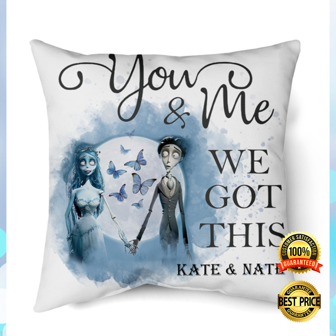 Personalized Corpse Bride you and me we got this pillow 4