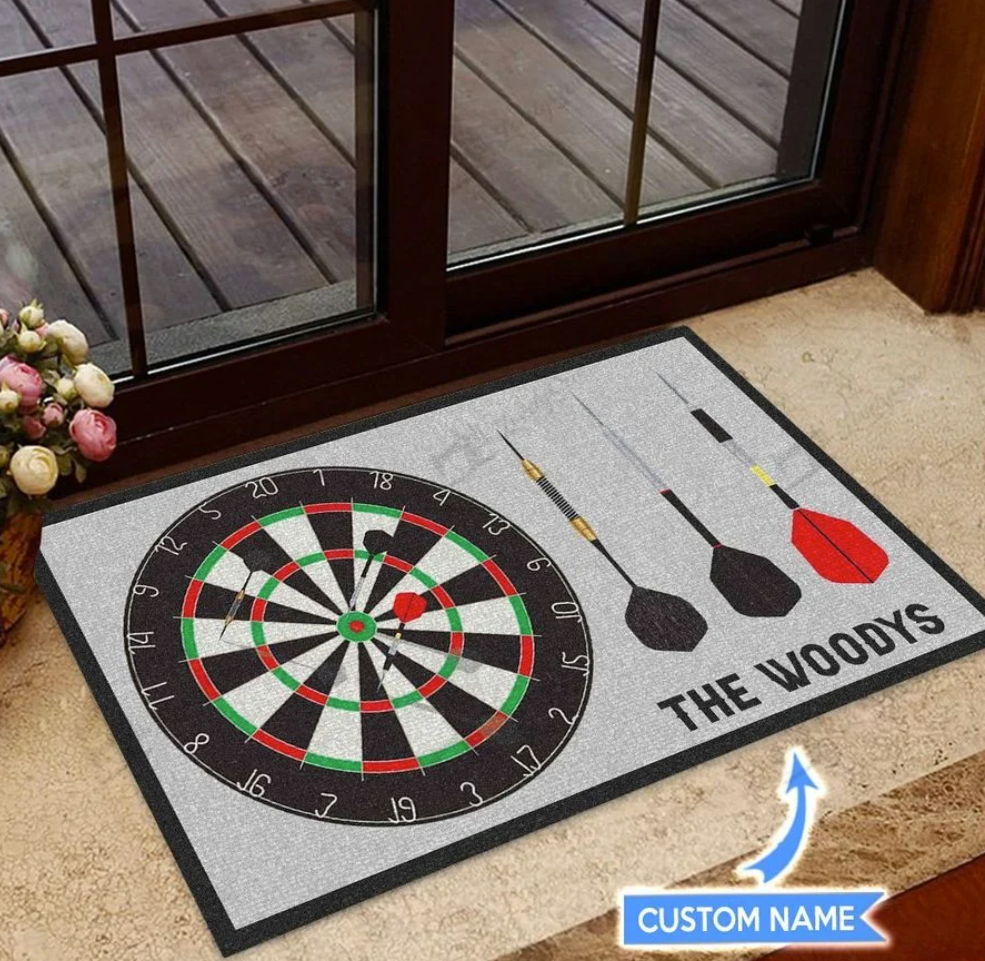 Personalized Darts doormat