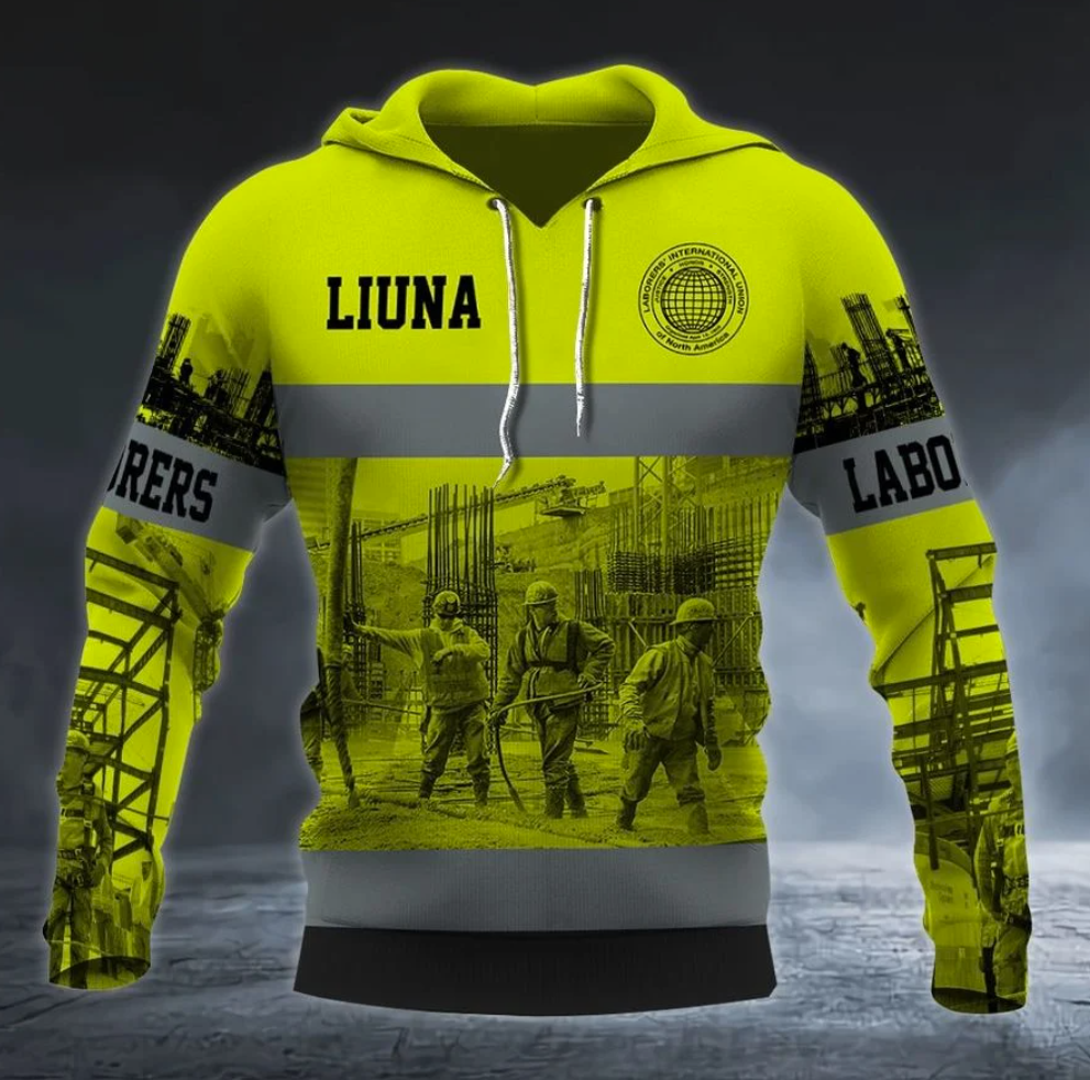 Personalized Laborers' International Union of North America all over printed 3D hoodie