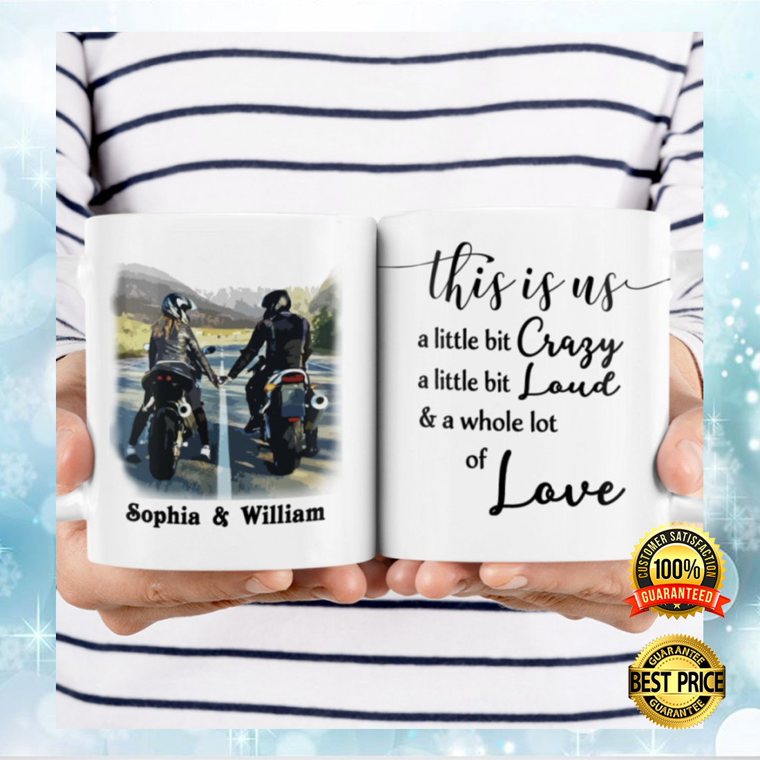 Personalized Motorcycling couple this is us mug 3