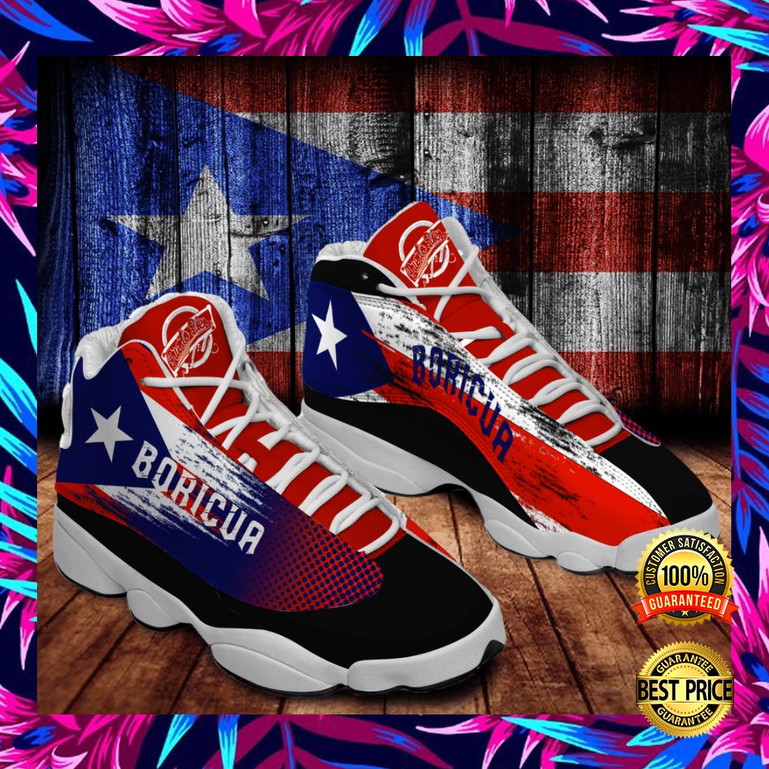 Personalized Puerto Rico flag Jordan 13 shoes 5