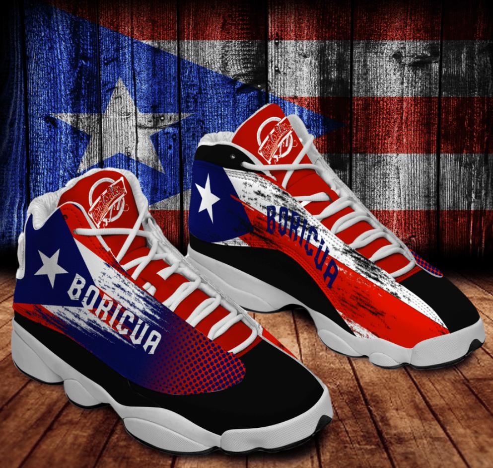 Personalized Puerto Rico flag Jordan 13 shoes