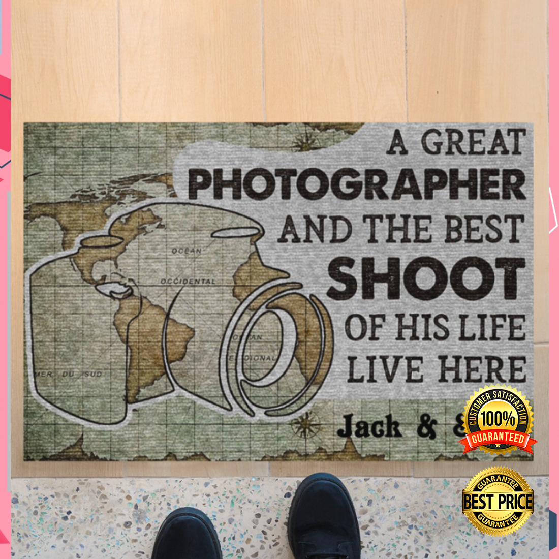 Personalized a great photographer and the best shoot of his life live here doormat 4