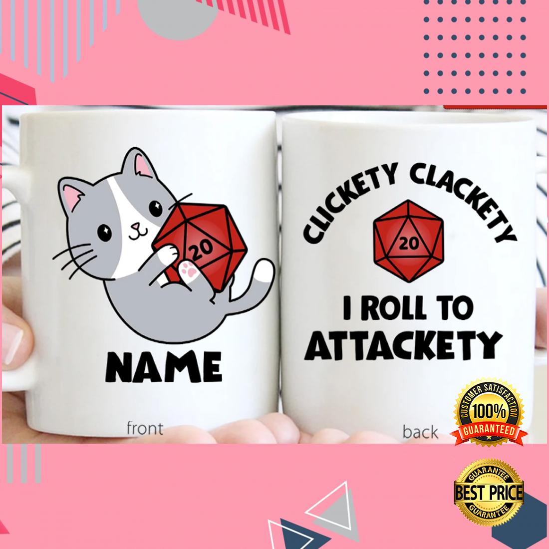Personalized clickety clackety i roll to attackety mug 3