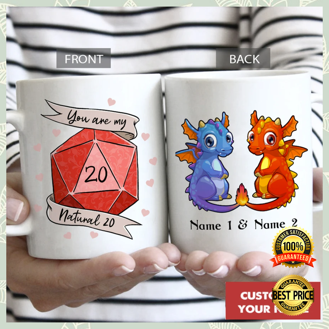 Personalized dragon you are my natural 20 mug 3