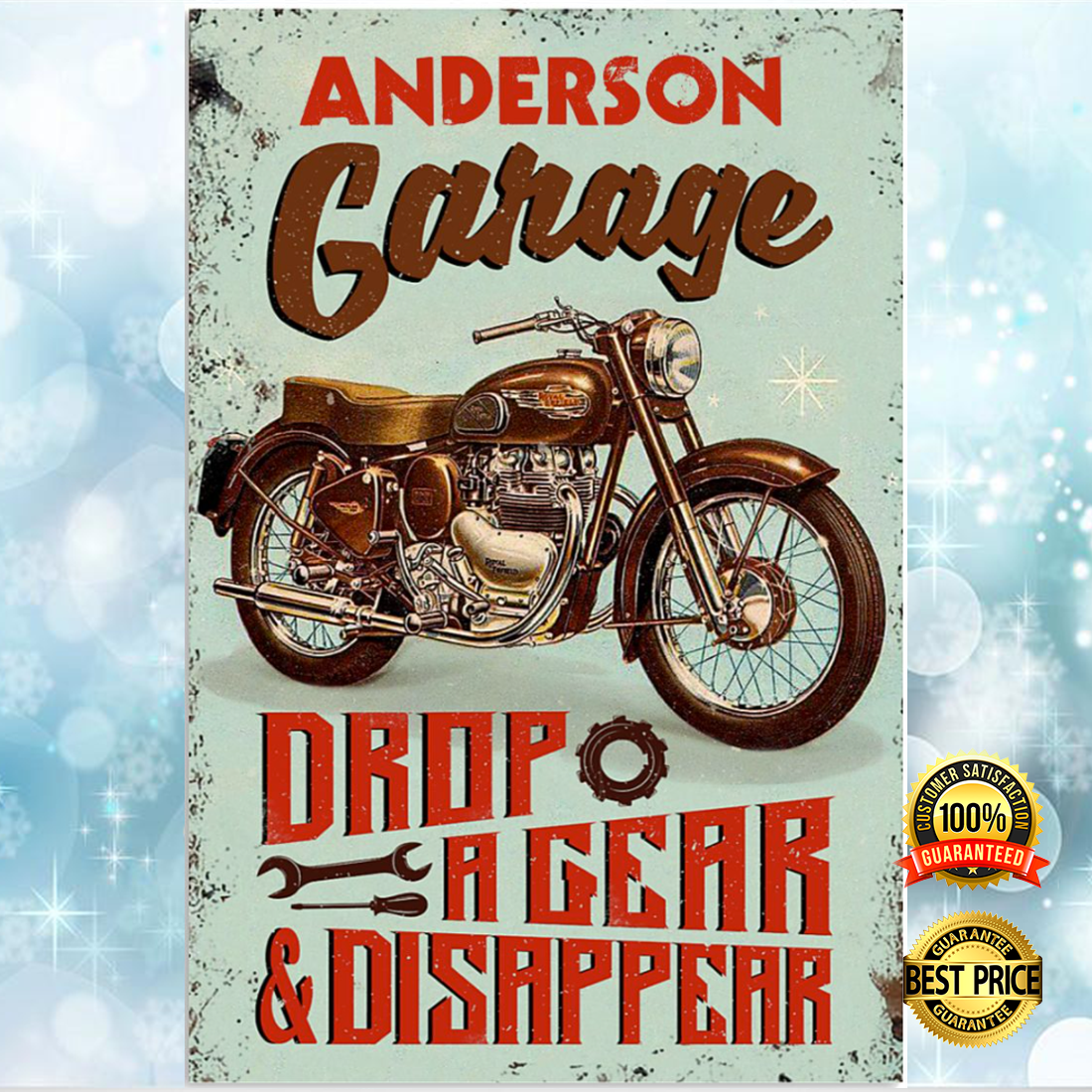 Personalized garage drop a gear and disappear poster 5