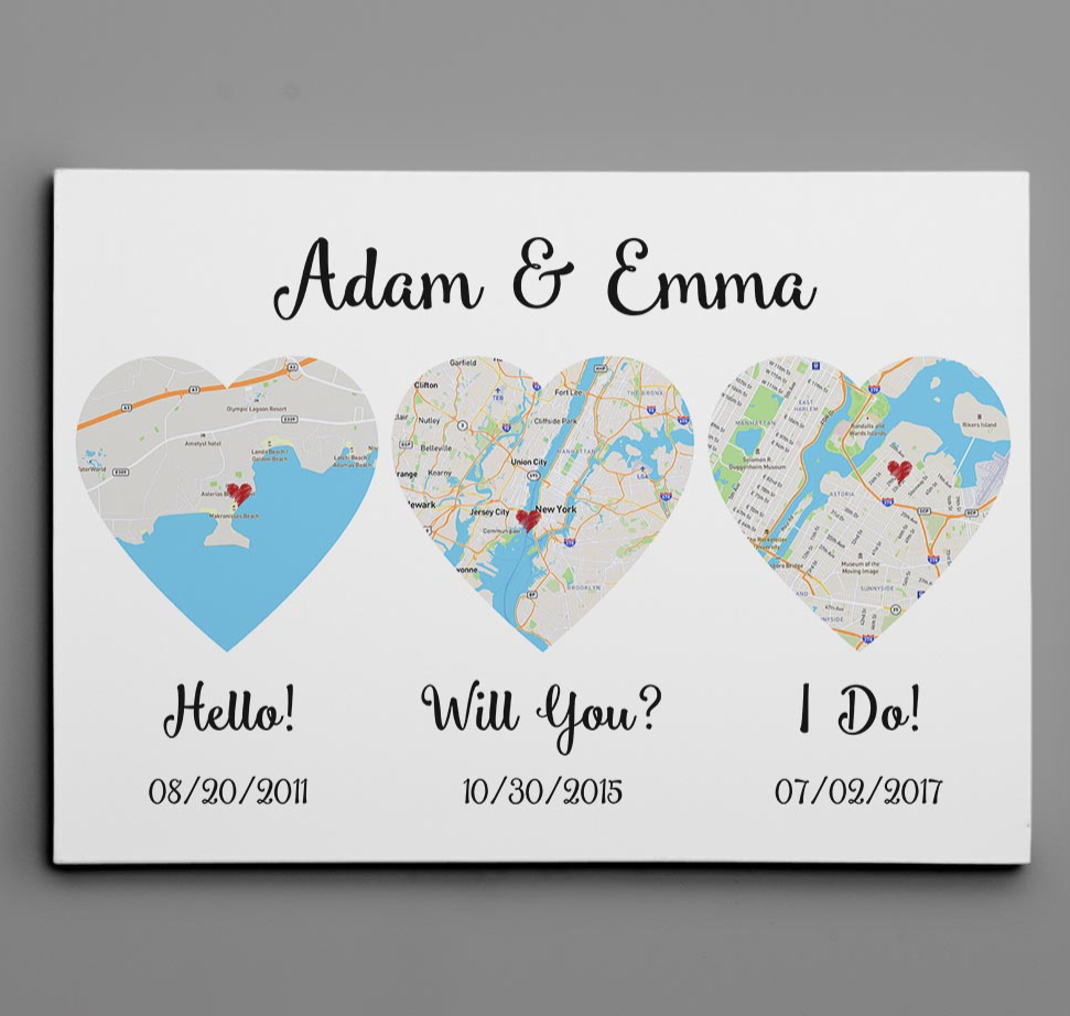 Personalized hello will you i do canvas