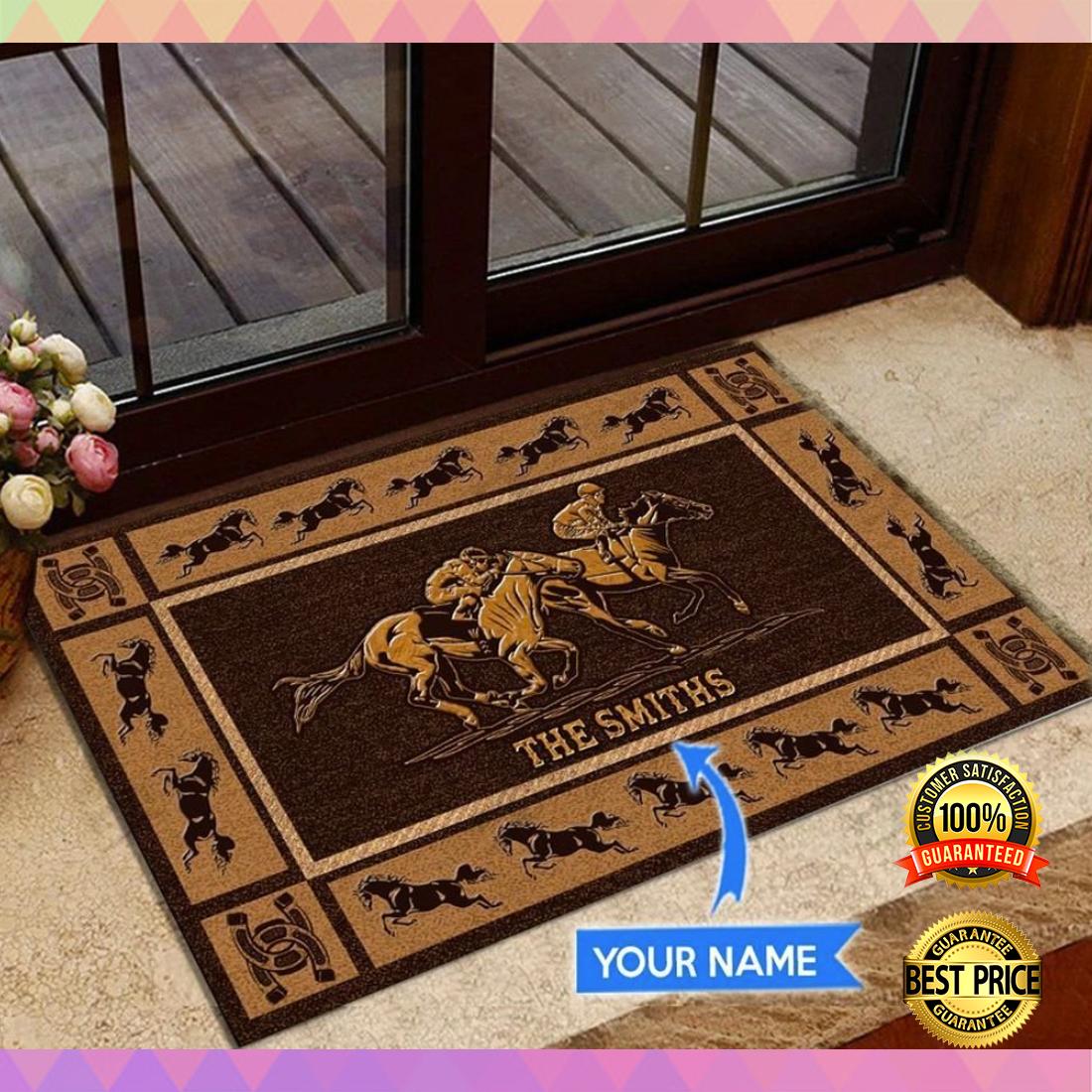 Personalized horse racing doormat 4