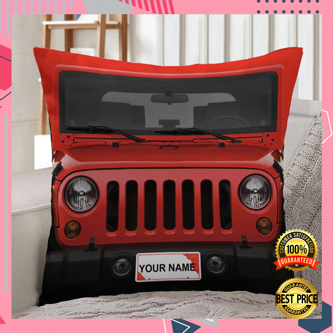 Personalized jeep pillow 5