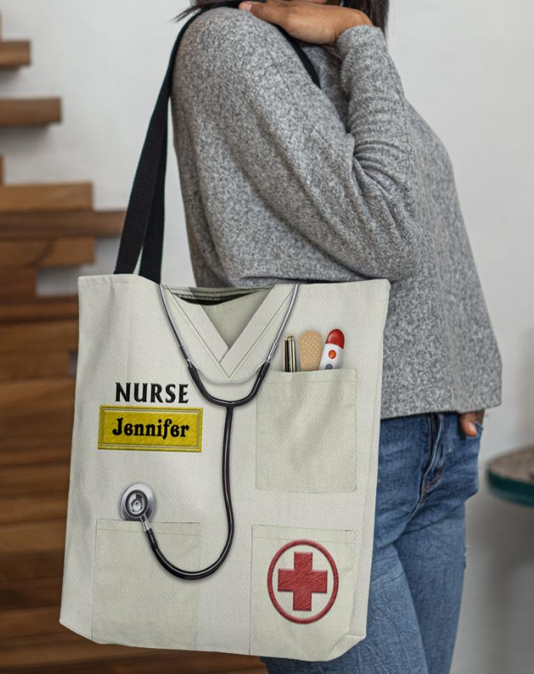 Personalized nurse tote bag 1