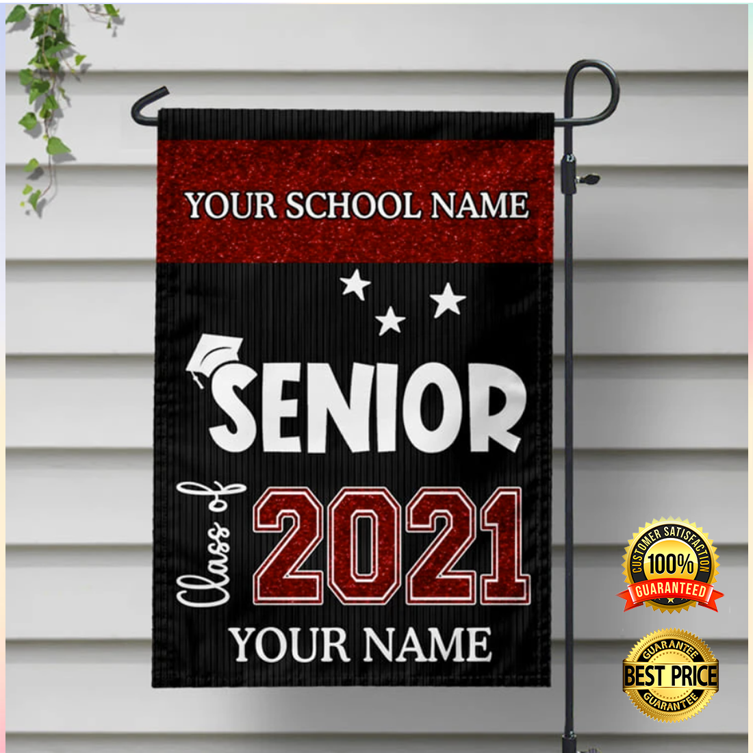 Personalized senior class of 2021 flag 4