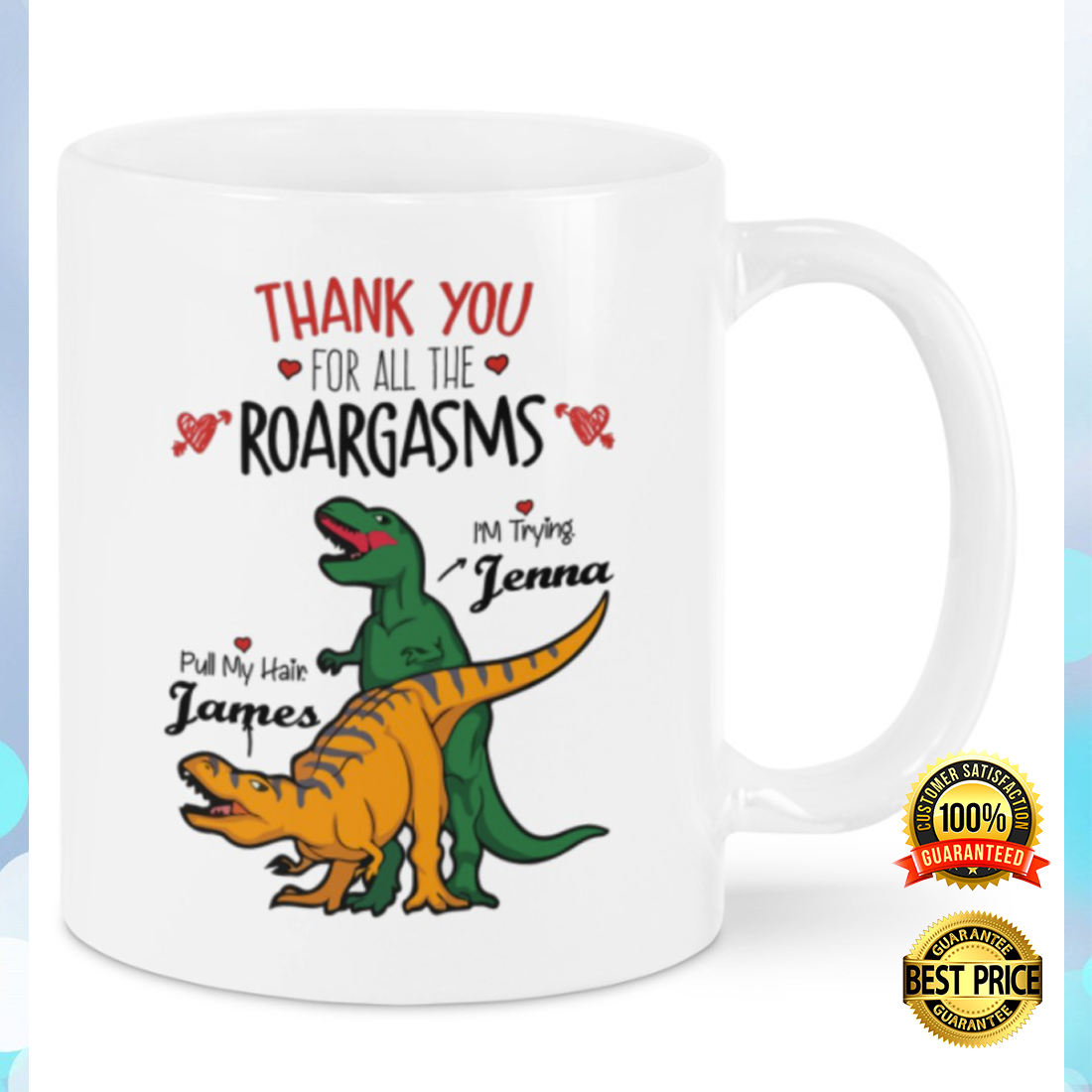 Personalized thank you for all the roargasms mug 3