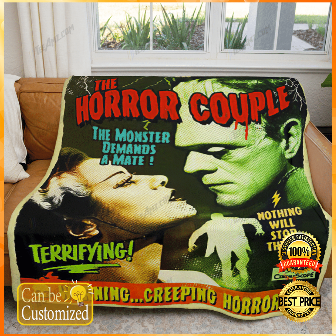 Personalized the horror couple the monster demands a mate blanket 4