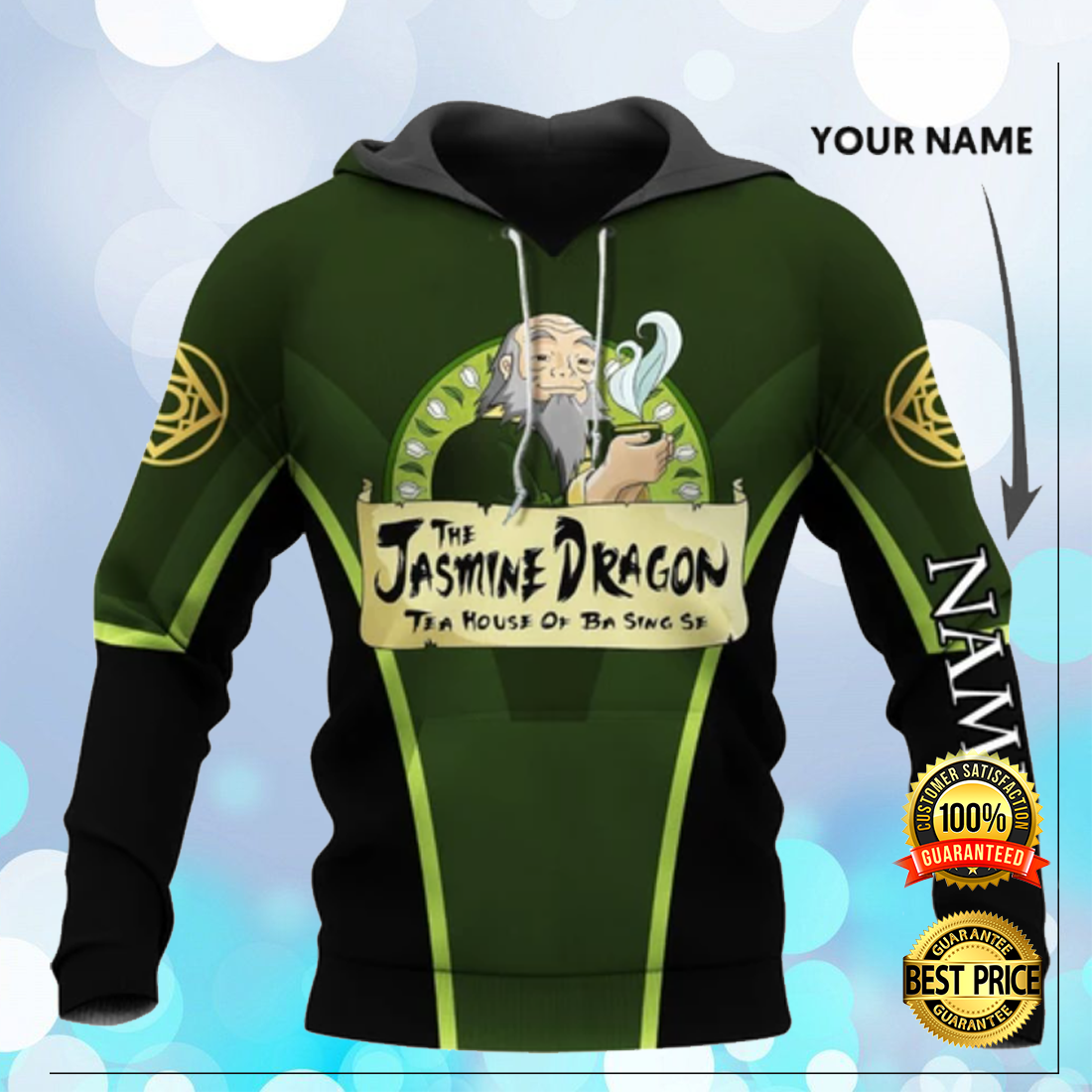 Personalized the jasmine dragon tea house of ba sing se all over printed 3D hoodie 3