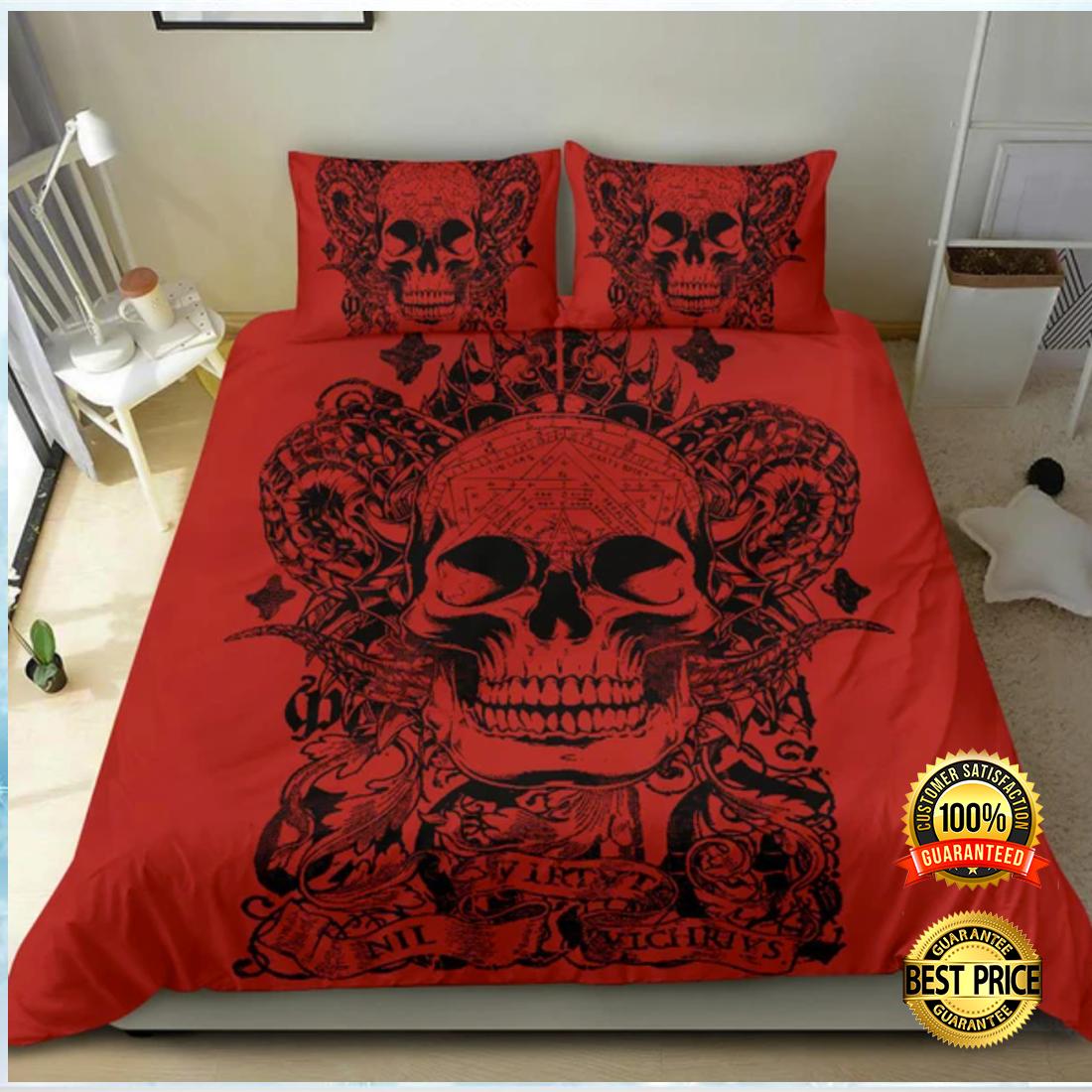 Red skull bedding set 3