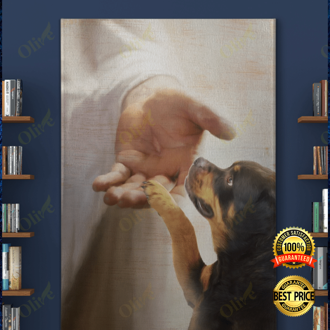 Rottweiler take my hand canvas 5