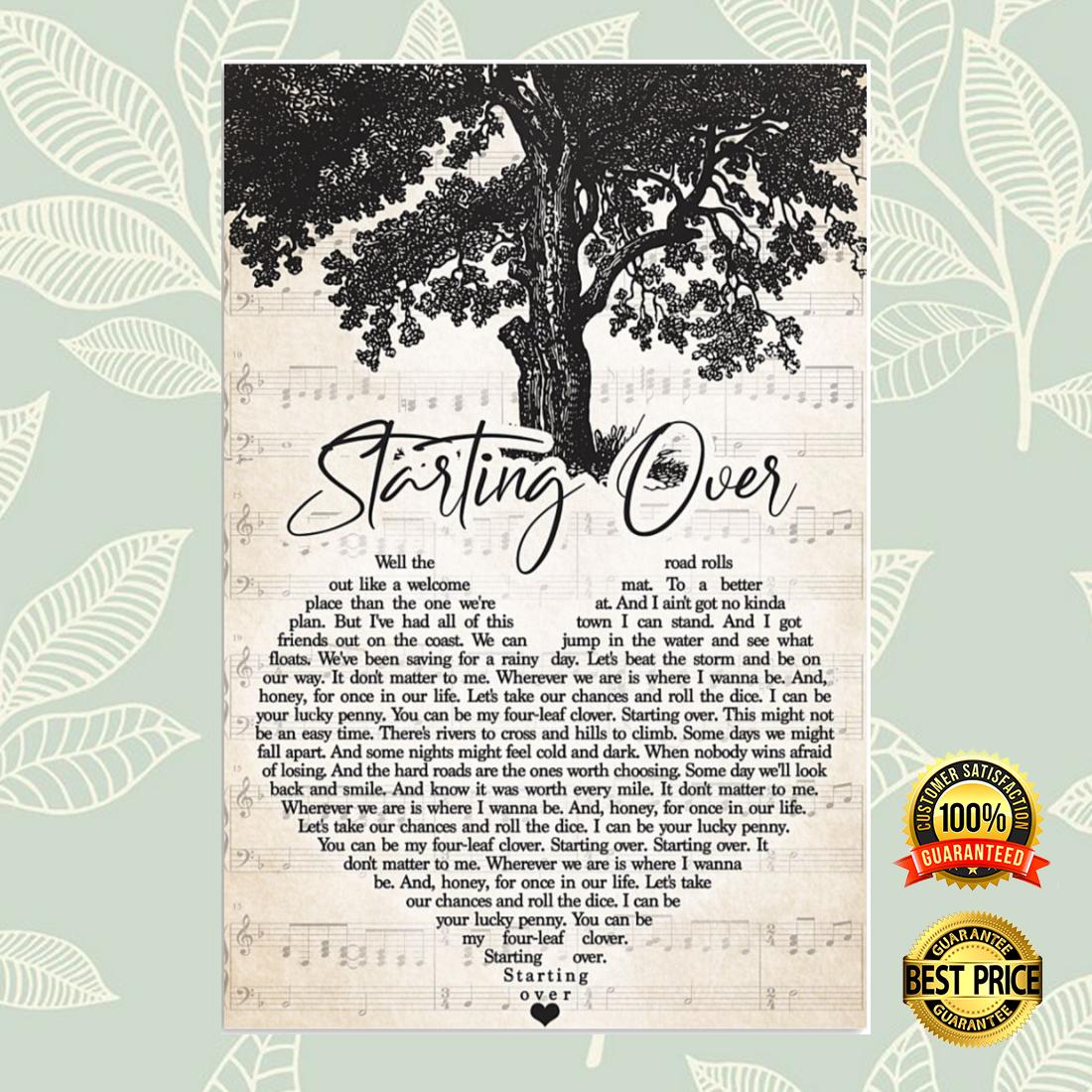Starting over heart song lyric poster 5