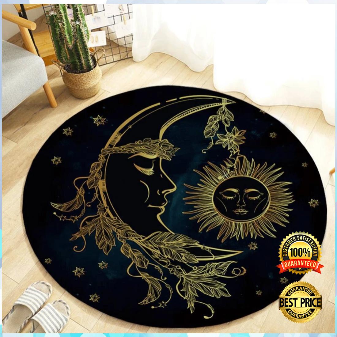 Sun and moon round rug 4