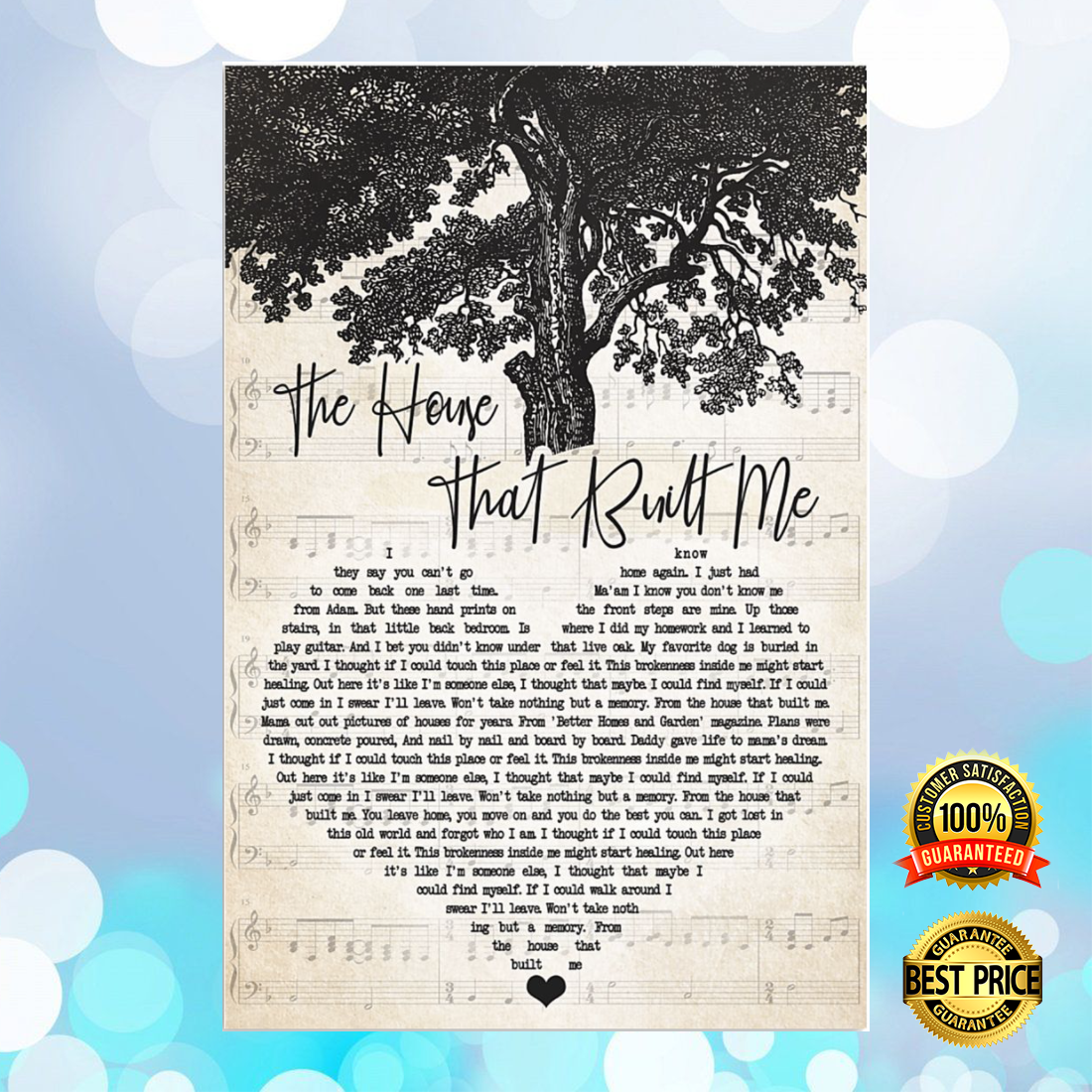The house that built me heart song lyric poster 5