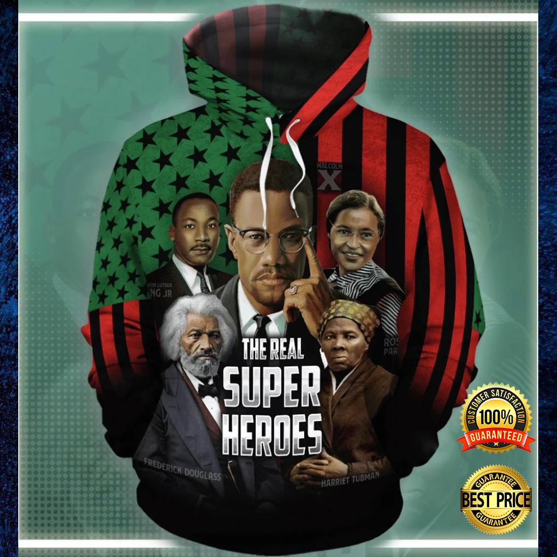 The real super heroes all over printed 3D hoodie 4