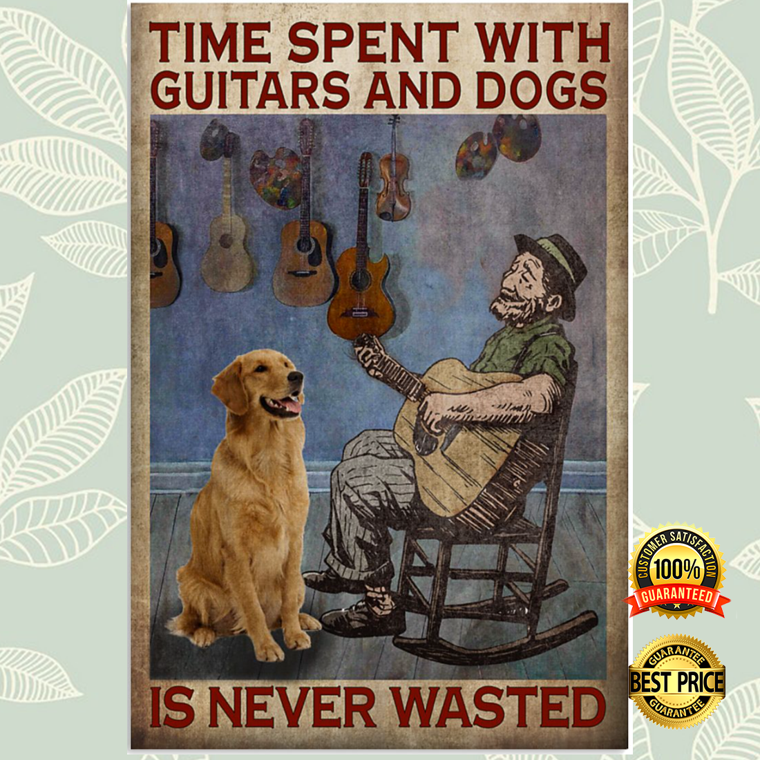 Time spent with guitar and dogs is never wasted poster 5
