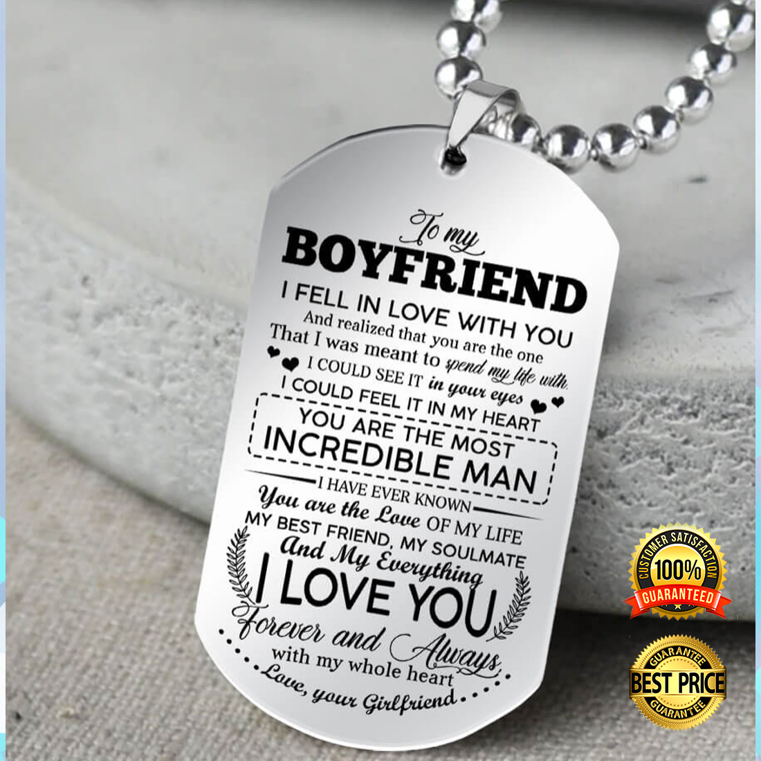 To my boyfriend i fell in love with you dog tag 5