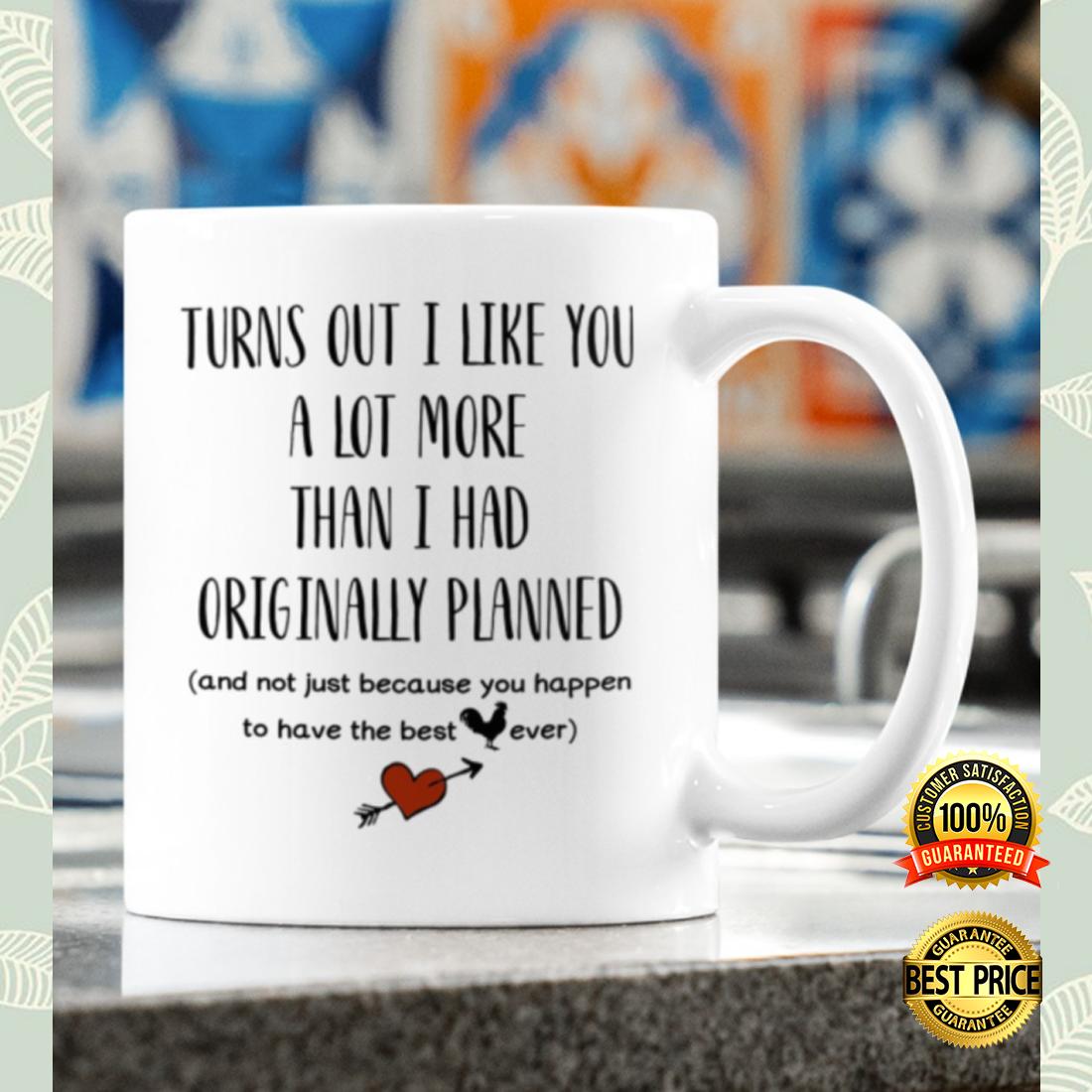 Turns out i like you a lot more than i had originally planned mug