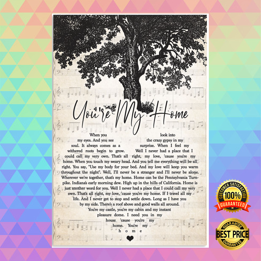 You're my home heart song lyric poster 5