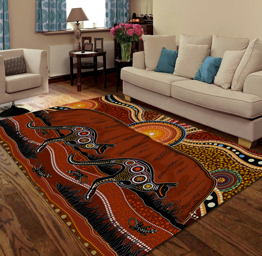 Aboriginal Kangaroo rug