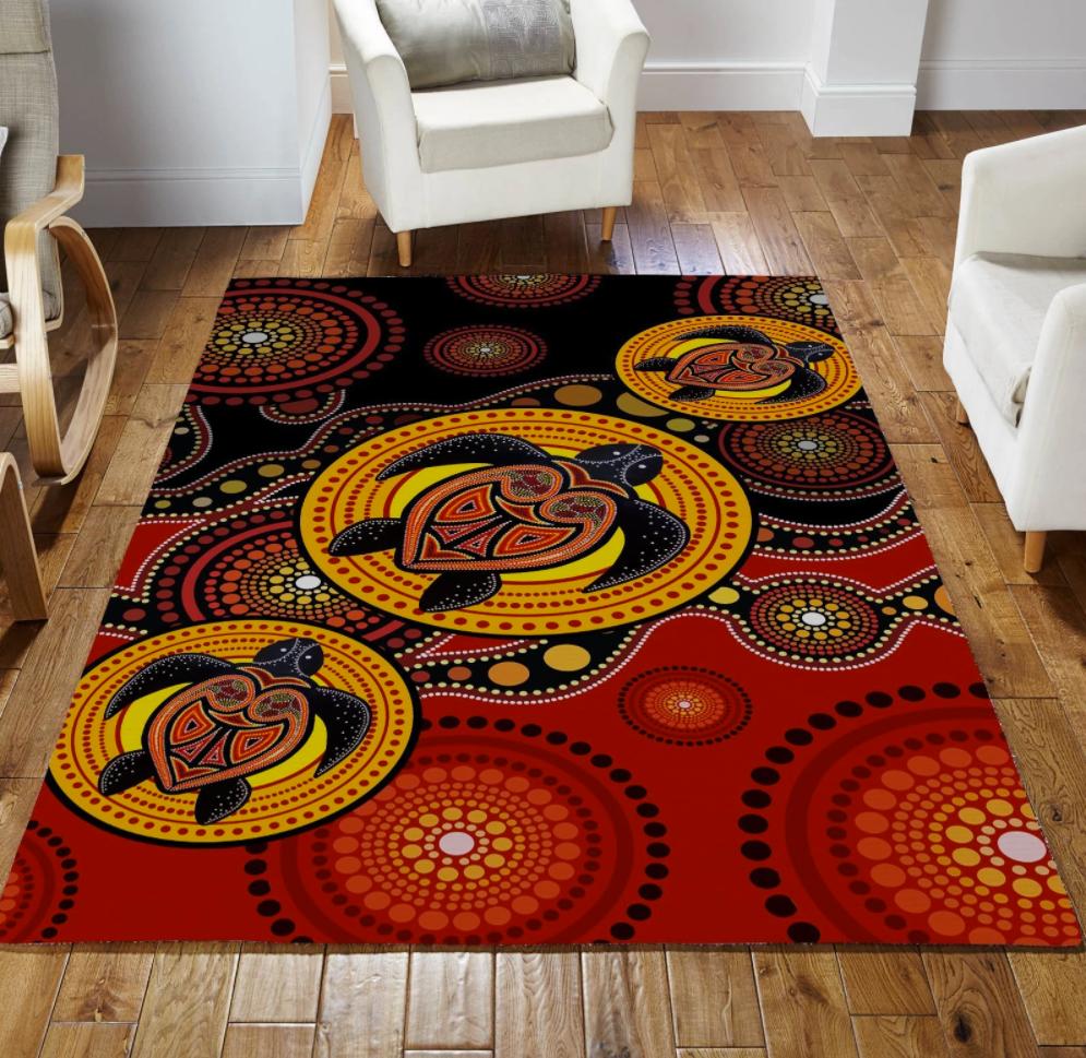 Aboriginal Turtles rug