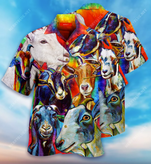 Colorful Goats hawaiian shirt