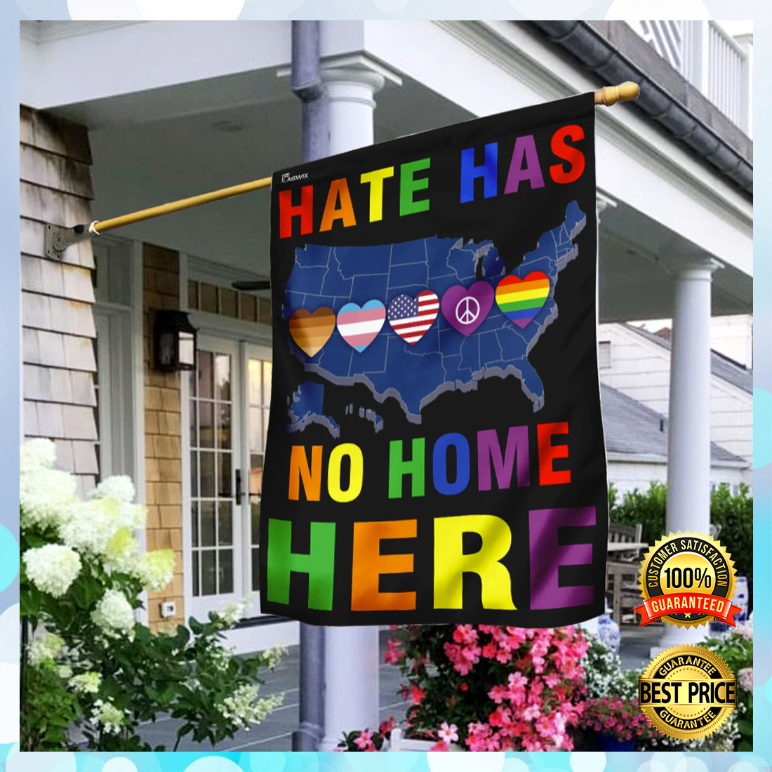 Hate has no home here flag 5