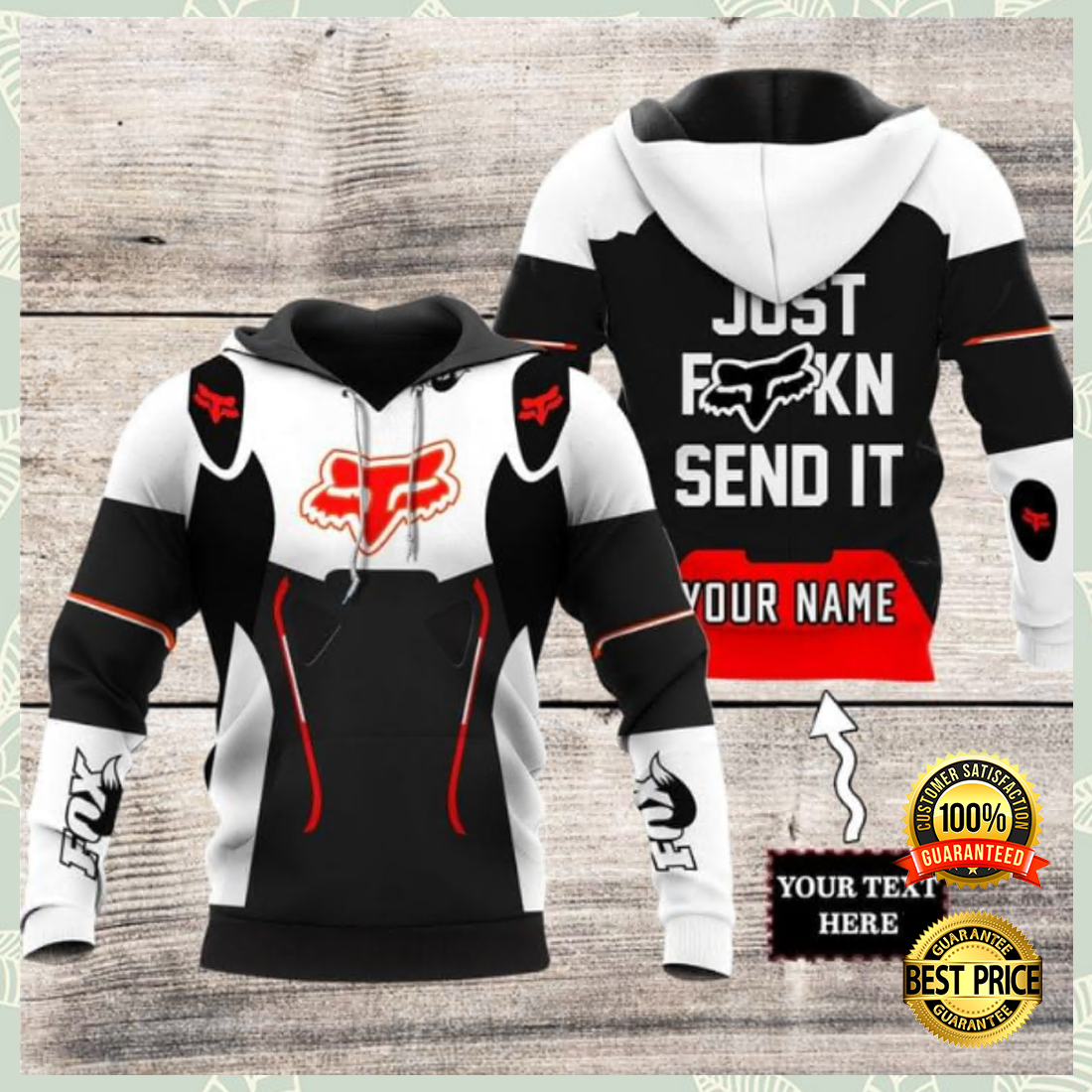 Personalized Fox racing just fucking send it all over printed 3D hoodie 4