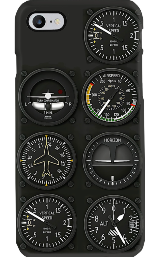 Pilot Six Flight Instruments phone case
