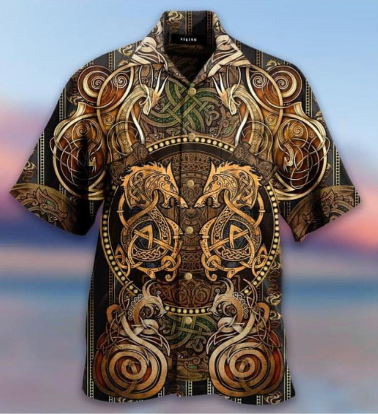 Dragon Viking hawaiian shirt