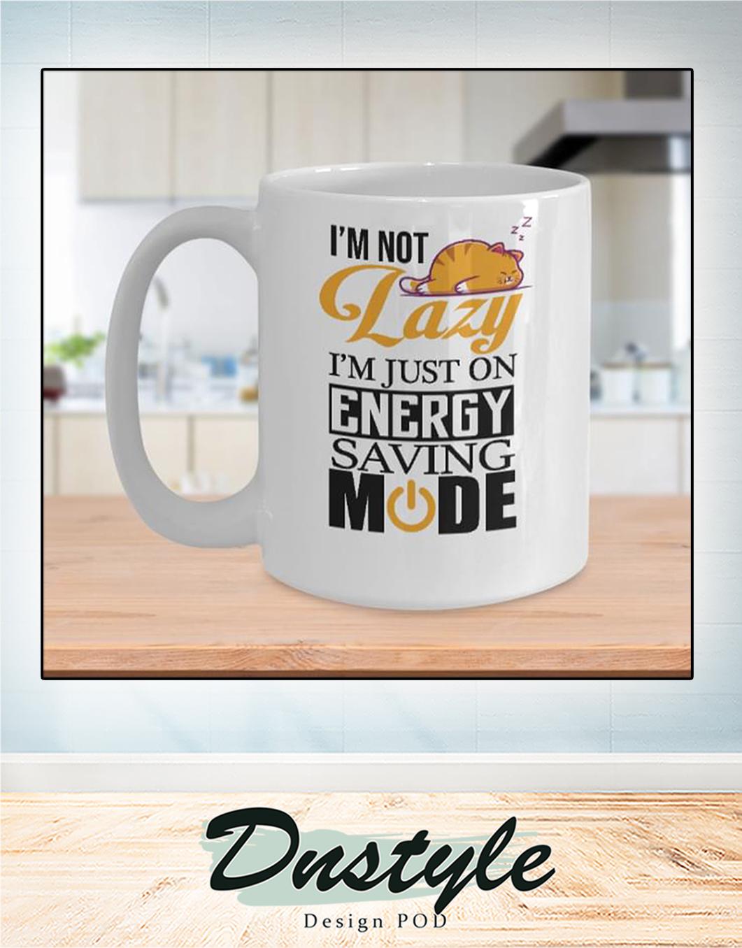Cat I'm not lazy I'm just on energy saving mode mug 2