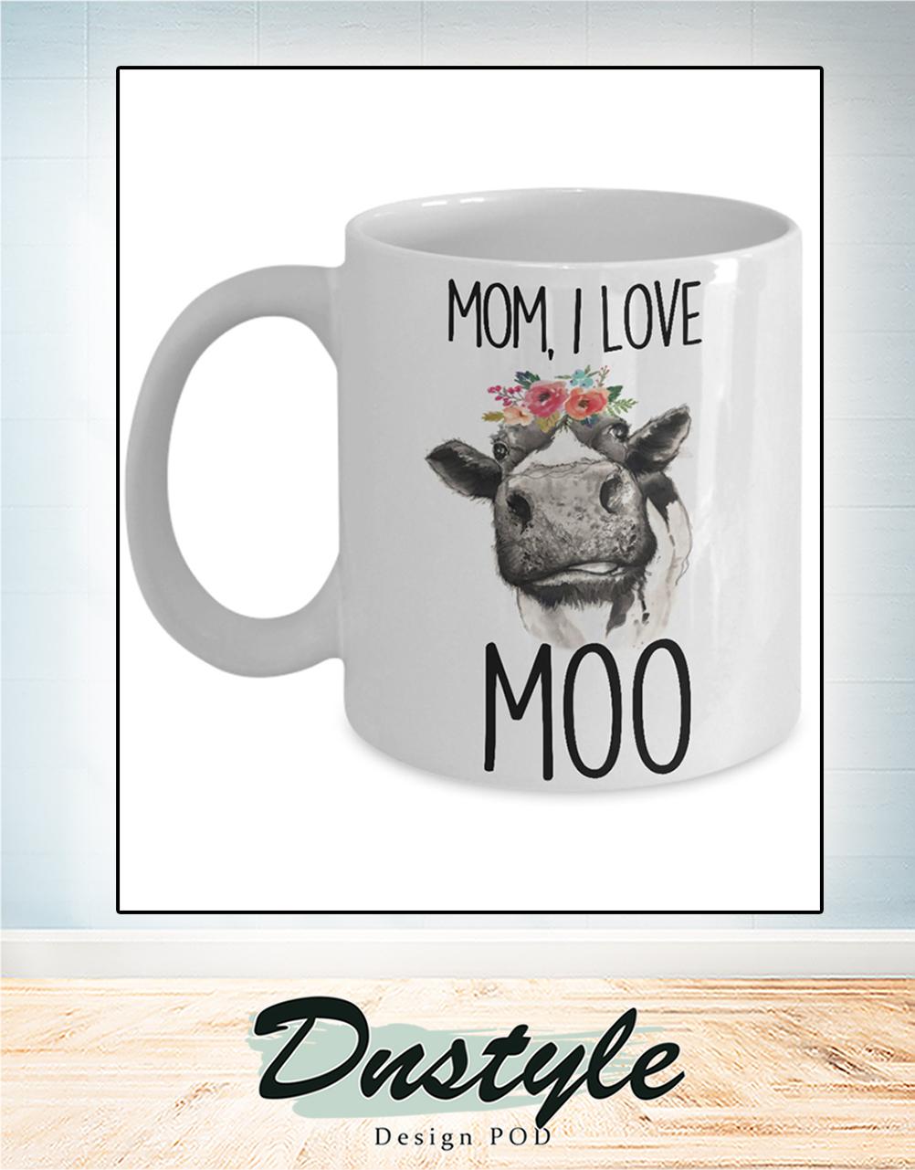 Cow Mom I love moo mug