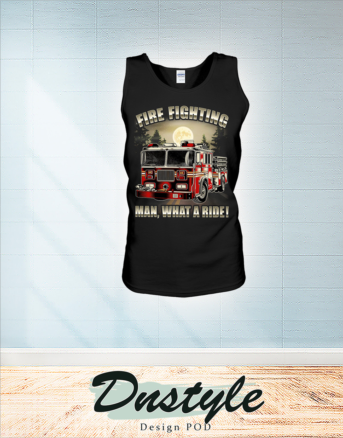 Fire fighting man what a ride tank