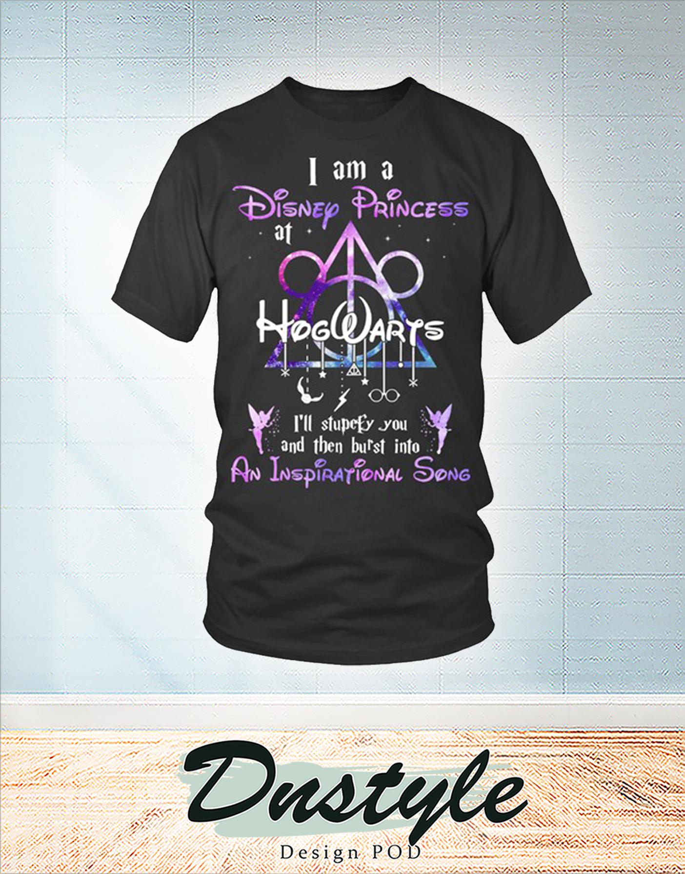 I am a disney princess at hogwarts shirt