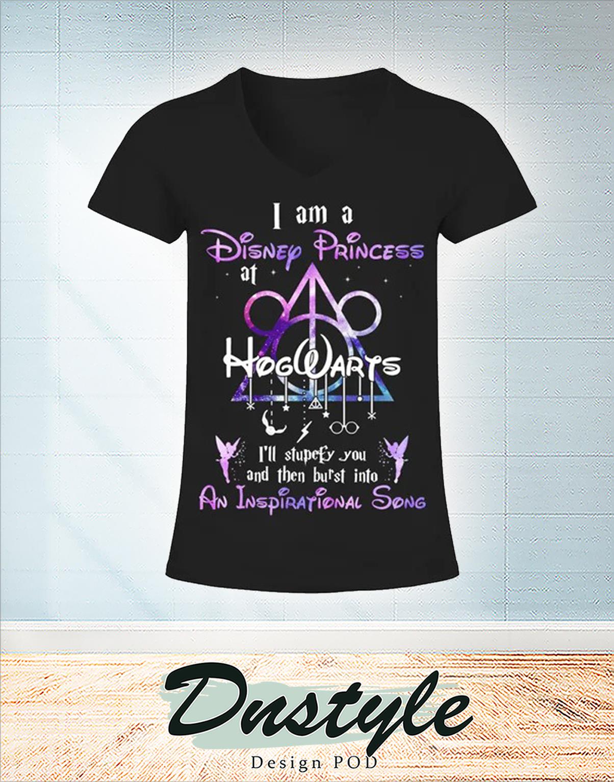 I am a disney princess at hogwarts v-neck
