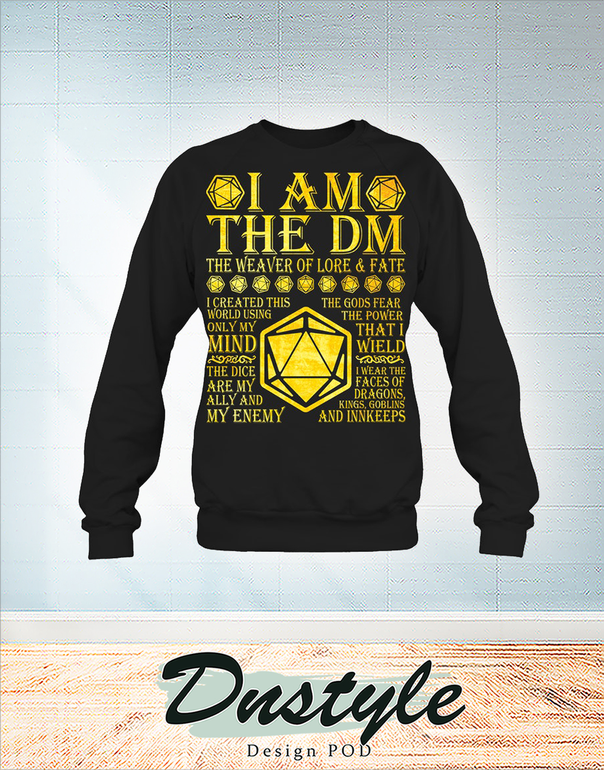 I am the dm the weaver of lore and fate long sleeve