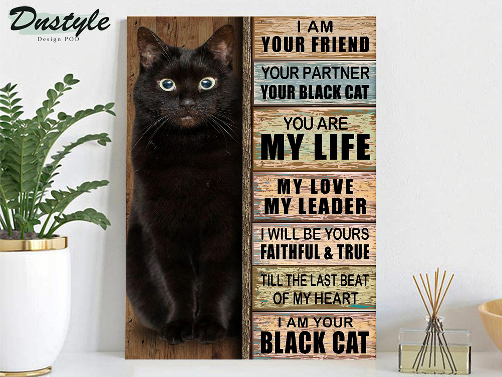 I am your friend your partner black cat poster A1