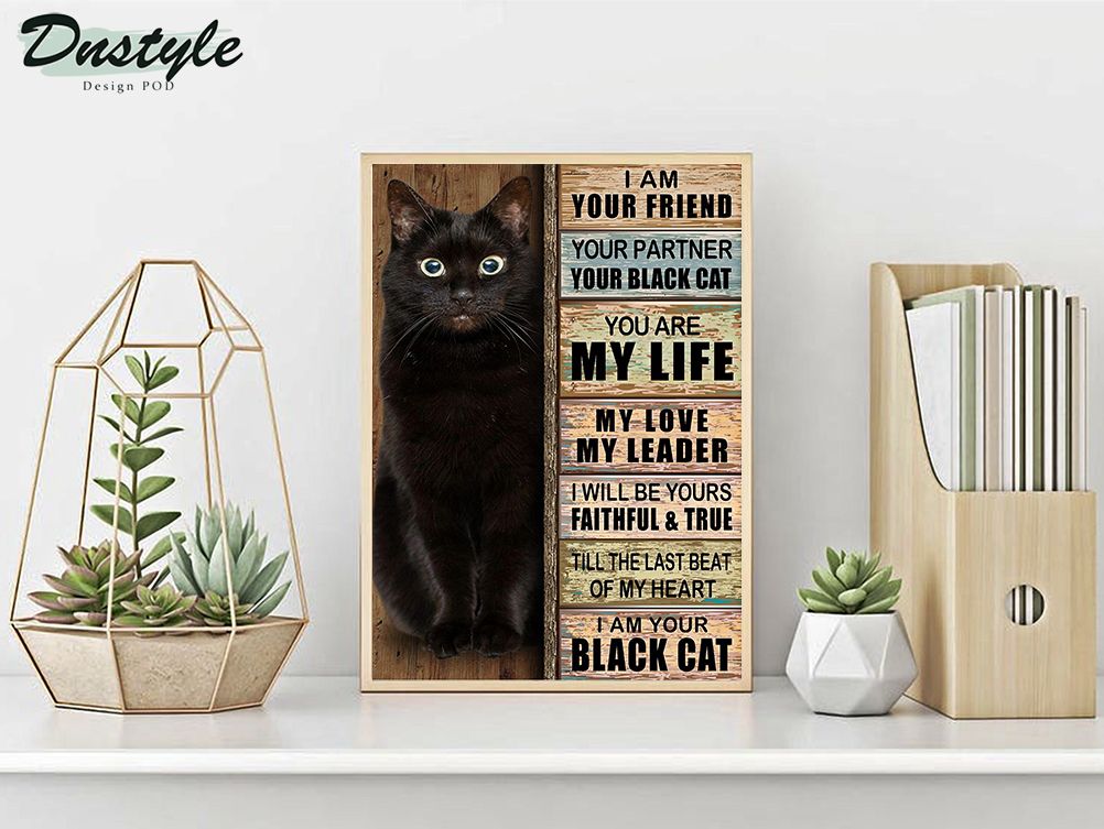 I am your friend your partner black cat poster A2
