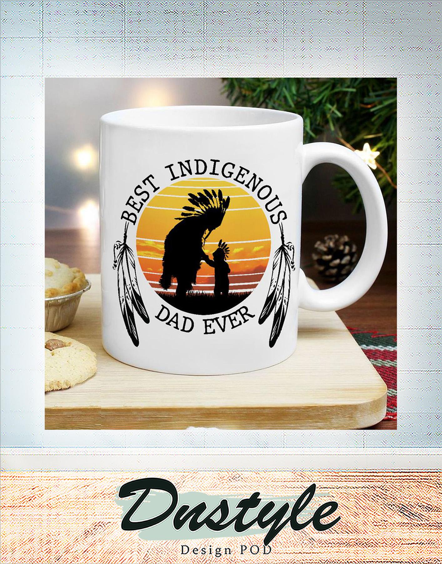 Native American Best indigenous dad ever mug 1