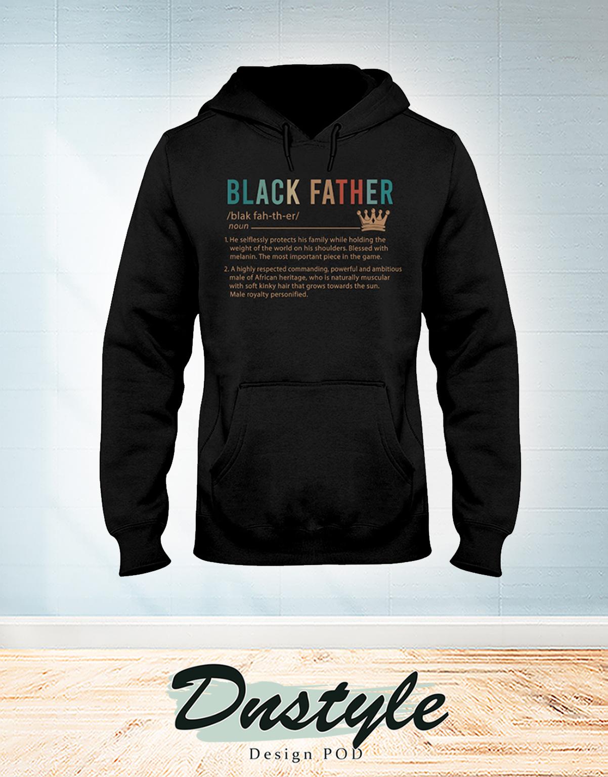 Vintage Black father definition hoodie